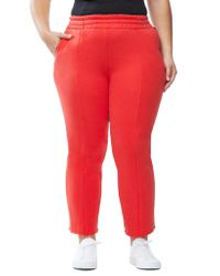 GOOD AMERICAN Red The High Waist Sweat Pant