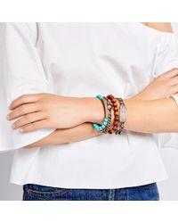 Sheryl Lowe - Metallic Chain Bracelet With Pavé Clasp - Lyst
