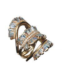 Nak Armstrong - Metallic Triple Ruched Ribbon Ring - Lyst