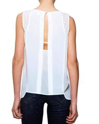 Cooper & Ella | White Fiona Sleeveless Ivory Top | Lyst