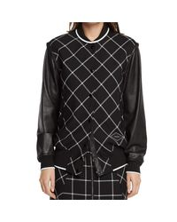 Rag & Bone   Black Edith Varsity Jacket   Lyst
