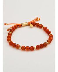 Gorjana & Griffin - Metallic Power Gemstone Orange Agate Beaded Bracelet For Confidence - Lyst