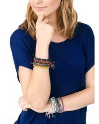 Gorjana & Griffin - Metallic Power Gemstone Aquamarine Beaded Bracelet For Truth - Lyst
