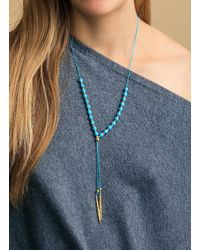Gorjana & Griffin - Metallic Power Gemstone Turquoise Beaded Necklace For Healing - Lyst