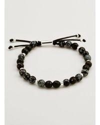 Gorjana & Griffin - Metallic Power Gemstone Snowflake Obsidian Beaded Bracelet For Courage - Lyst