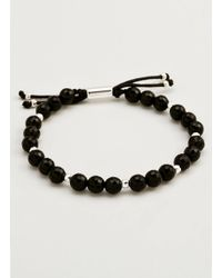 Gorjana & Griffin - Metallic Power Gemstone Black Onyx Beaded Bracelet For Protection - Lyst