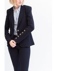 Veronica Beard - Blue Steele Cutaway Bottom Cuff Jacket - Lyst