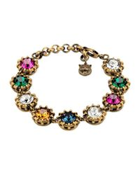 Gucci - Metallic Bracelet With Crystals - Lyst