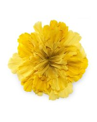 Gucci - Yellow Large Flower Brooch In Silk - Lyst