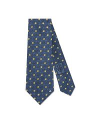 Gucci | Blue Floral Jacquard Silk Tie for Men | Lyst