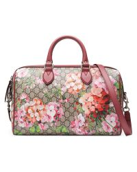 Gucci | Pink Blooms Gg Supreme Top Handle Bag | Lyst
