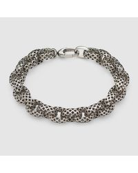 Gucci | Metallic Bracelet In Silver | Lyst