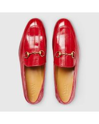 Gucci - Red Eel Loafer for Men - Lyst