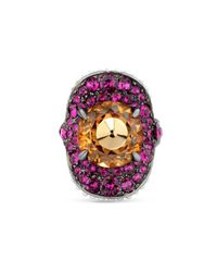 Gucci | Multicolor Ring With Stud And Crystals | Lyst
