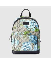5f2f7426fd7 Lyst - Gucci Gg Blooms Small Backpack in Brown