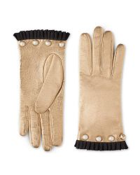 Gucci Natural Studded Leather Glove