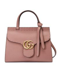 4f3011b0f57b Lyst - Gucci Gg Marmont Leather Top Handle Mini Bag
