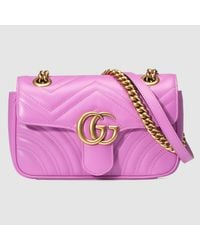 3e8cb402f5228e Gucci GG Marmont Matelassé Leather Mini Shoulder Bag - Lyst