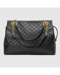 Lyst - Gucci Soft Signature Shoulder Bag 749a4709528b3