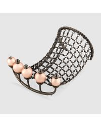 Gucci | Metallic Multi-finger Ring With Chain | Lyst