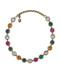 Gucci | Multicolor Necklace With Crystals | Lyst