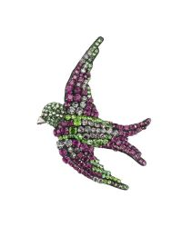 Gucci | Multicolor Embroidered Bird Brooch | Lyst