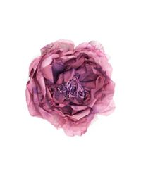 Gucci - Purple Flower Pin In Silk - Lyst