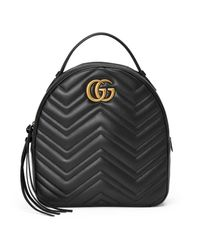 b9339ff84799 Lyst - Gucci Gg Marmont Quilted Leather Backpack in Black