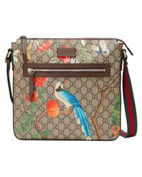 71d9b00cf Gucci Tian Gg Supreme Messenger in Natural - Lyst