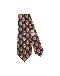 Gucci - Blue Gg Wallpaper Silk Tie for Men - Lyst