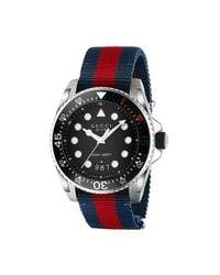 Gucci Multicolor Dive Watch, 45mm