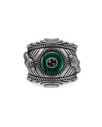 Gucci - Multicolor Garden Ring In Silver - Lyst