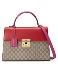 4add17cca3d Lyst - Gucci Padlock Gg Supreme Top Handle Bag