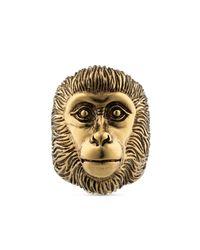Gucci - Metallic Monkey Head Ring for Men - Lyst