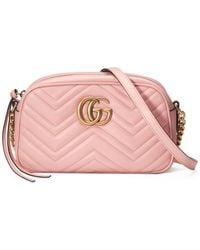 b30e635baeb Gucci Gg Marmont Matelassé Shoulder Bag in Pink - Lyst