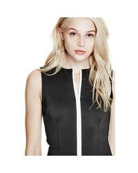 Guess - Black Bianca Scuba Midi Dress - Lyst