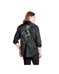 Guess | Black Military Twill Shirt for Men | Lyst