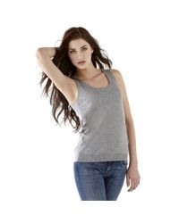 Guess | Gray Vinsh Tank Sweater Top | Lyst