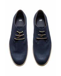 H&M - Blue Derby Shoes for Men - Lyst