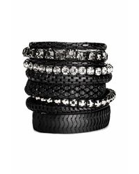 H&M   Black 9-pack Bracelets   Lyst