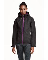 H&M - Black Softshell Jacket - Lyst