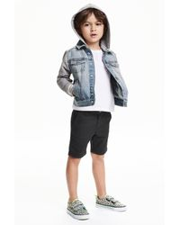 H&M   Black Chino Shorts for Men   Lyst