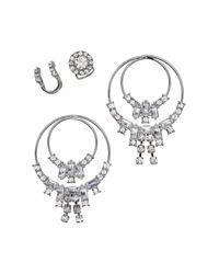 H&M   Metallic Earrings And Earcuffs   Lyst