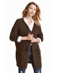 H&M | Brown Mohair-blend Cardigan | Lyst