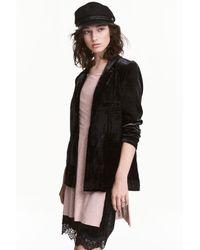 H&M | Black Velvet Jacket | Lyst