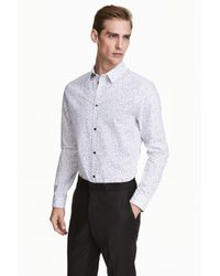 H&M | White Patterned Cotton Shirt for Men | Lyst