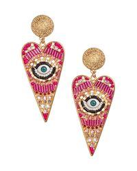 H&M | Pink Heart-shaped Earrings | Lyst