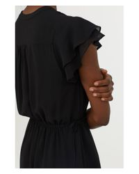 H&M - Black V-neck Dress - Lyst