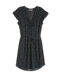 H&M - Black Dress With Butterfly Sleeves - Lyst