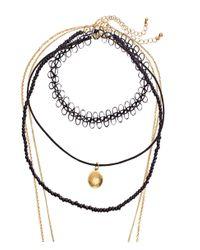 H&M - Black 5-pack Necklaces - Lyst